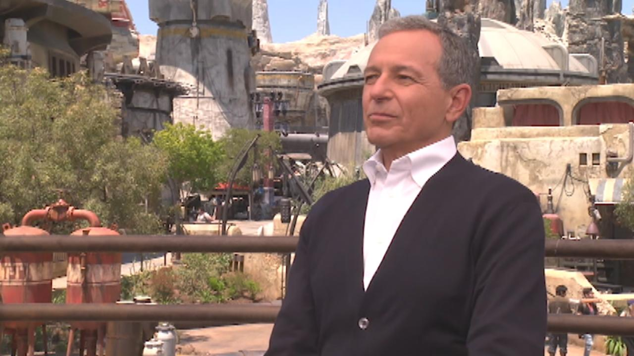 Disney CEO Bob Iger on 'Star Wars: Galaxy's Edge,' the potential impact of trade tensions with China on the company and Shanghai Disneyland, streaming, competition in the industry, the outlook for potential consolidation within media, employee pay and his plans to retire in 2021.
