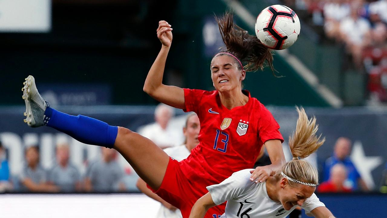 Fox Sports lead Women's World Cup game analyst Aly Wagner on previews the 2019 Women's World Cup, the push for equal pay for female athletes and the potential boost to growth for sports such as soccer from parents' concerns over the injury risks from football.