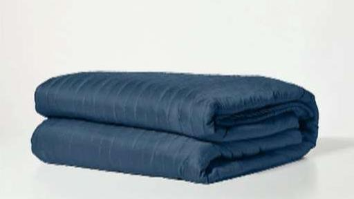 Gravity Products CEO Mike Grillo on the company's weighted blanket and the potential impact of China tariffs on the company.