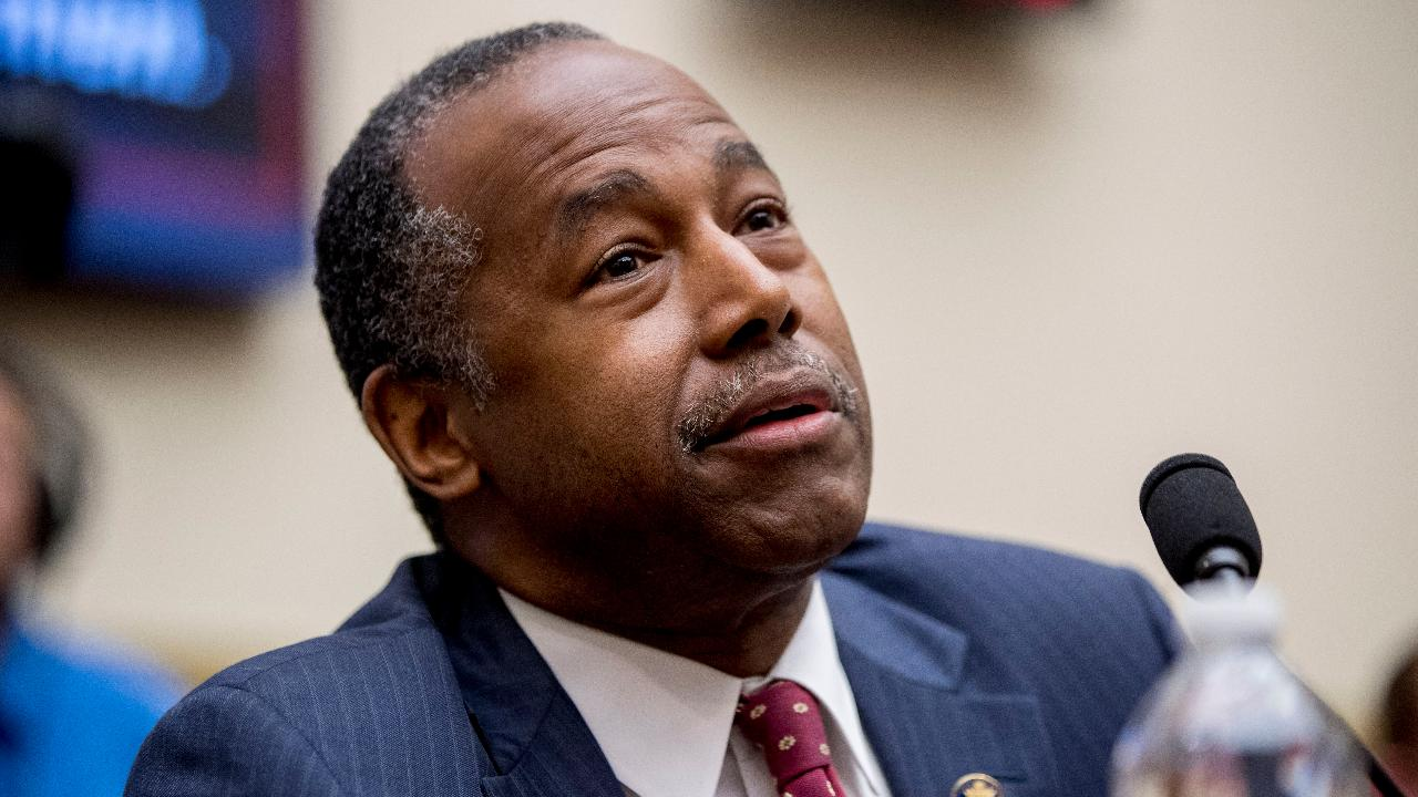Housing and Urban Development Secretary Ben Carson on the fallout from his testimony before the House Financial Services Committee and addresses concerns that a HUD proposal could lead to shelters denying transgender applicants on religious grounds.