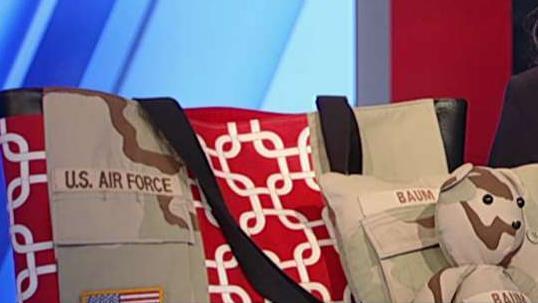 Patriotic entrepreneur uses old US military uniforms to design accessories