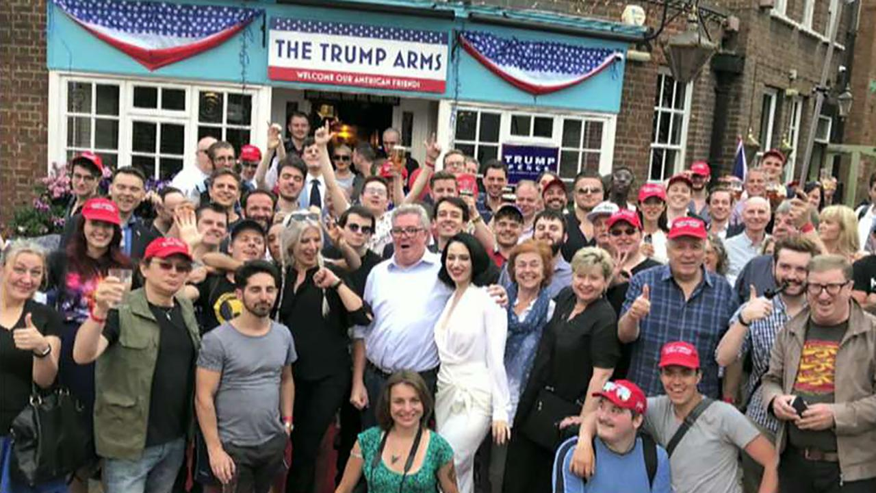 "Pub owner Damien Smyth on why he temporarily changed the name of his pub to ""The Trump Arms."""
