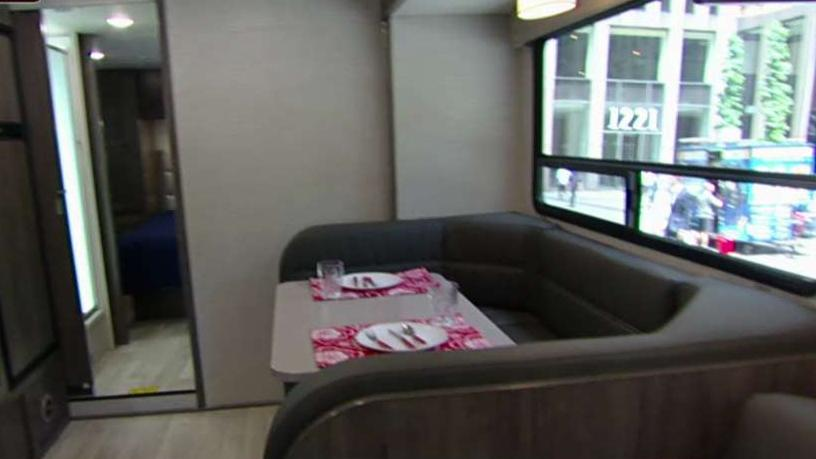 Winnebago Corporate Relations Director Chad Reece on the company's recreational vehicle the Minnie Winnie.