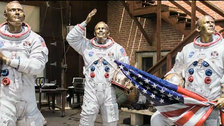 Steven Barber, a filmmaker with Vanilla Fire Productions, on his role in the creation of the bronze statues to honor the Apollo 11 crew the Kennedy Space Center.