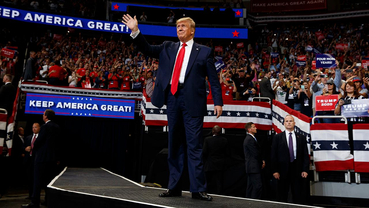 President Trump officially launches his 2020 campaign during a rally in Orlando, Florida.