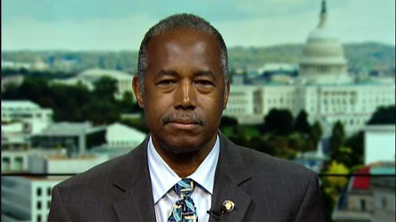 Housing and Urban Development Secretary Ben Carson on President Trump signs executive order easing housing regulations considered obstacles to affordable housing.