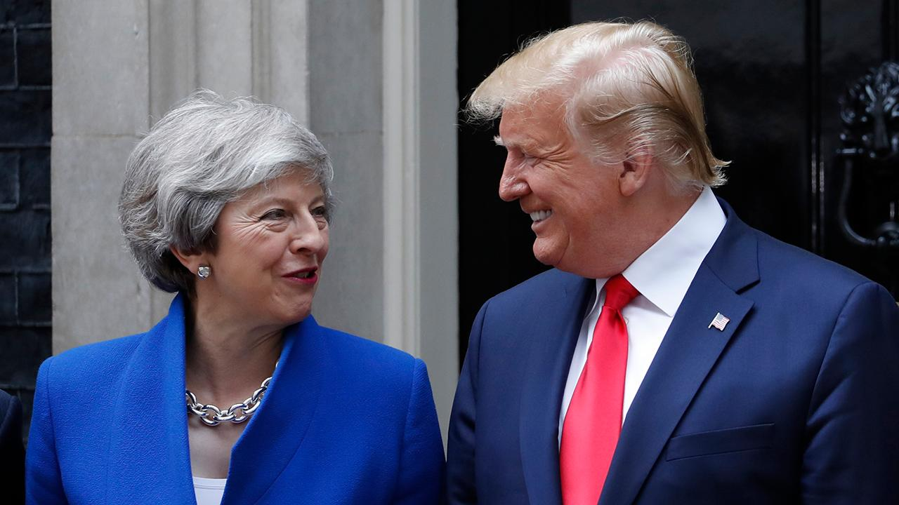 President Trump says the U.S. is committed to a phenomenal trade deal with the U.K.