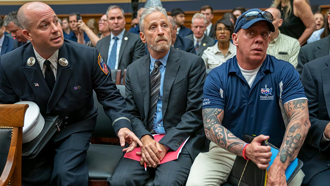 Former 9/11 first responders Gerard Fitzgerald and Jake Lemonda on how comedian Jon Stewart blasted lawmakers for skipping a 9/11 victims fund hearing.