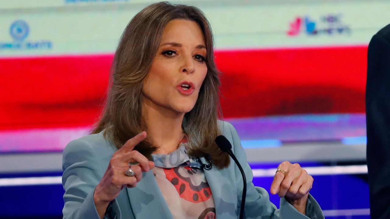 Democratic presidential candidate Marianne Williamson on the debates, President Trump and the need for Democrats to have a broader agenda than just health care.