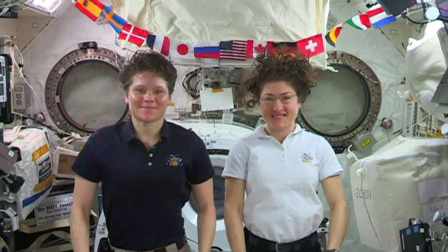 NASA Astronauts Lt. Col. Anne C. McClain and Christina H. Koch on their experiences on the International Space Station and NASA plans for a return to the Moon as a step in the long-term goal to go to Mars.