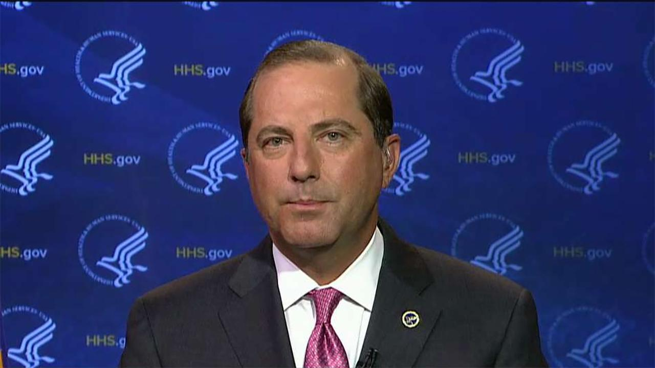 Health and Human Services Secretary Alex Azar on efforts to expand Medicare coverage to treatments such as acupuncture in an efforts to tackle the opioid crisis, concerns over the future of Medicare, border funding and ObamaCare.