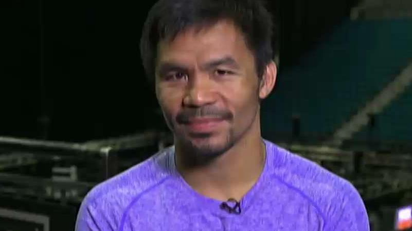 Boxer Manny Pacquiao on his upcoming match against Keith Thurman in Las Vegas and his life outside of boxing.