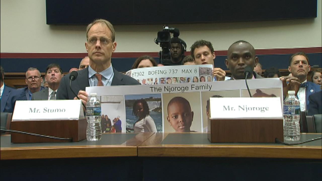 Paul Njoroge is the first relative to testify before Congress on the March 10 crash of the Ethiopian Airlines 737 Max.