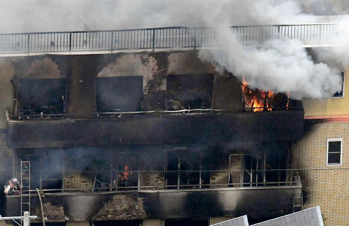 At least 13 people were confirmed dead in a fire started by a man who spread an unidentified liquid inside an anime studio, lighting it on fire.