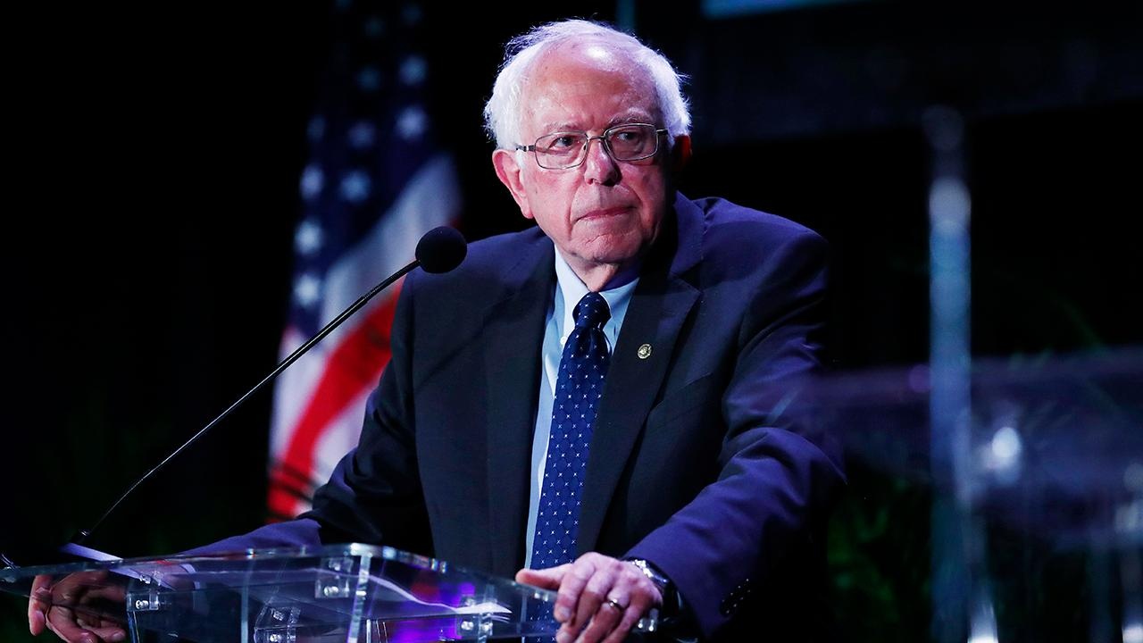 Heritage Foundation economist Steve Moore, FOX Business' Jackie DeAngelis, Fortune executive editor Adam Lashinsky and MAXFunds founder Jonas Max Ferris discuss how Sen. Bernie Sanders (I-Vt.) defended his position on eliminating private insurance, while appearing on Jimmy Kimmel Live!