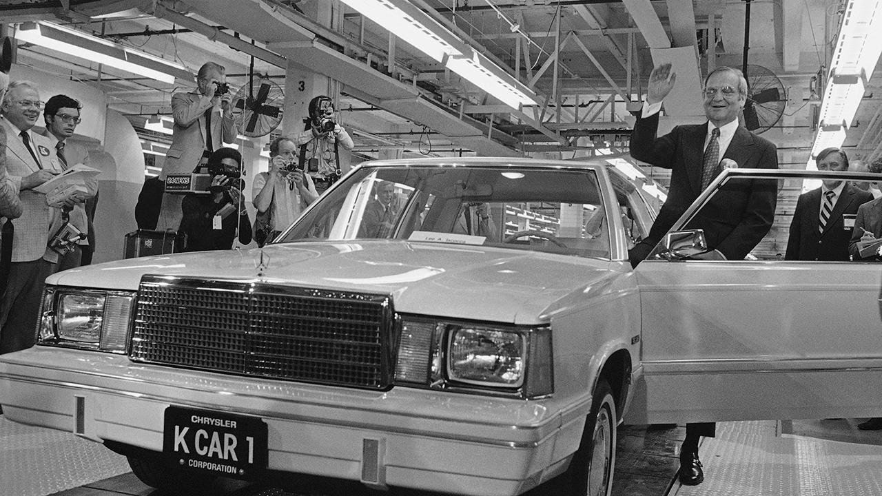 Former Chrysler CEO Lee Iacocca in a commercial.