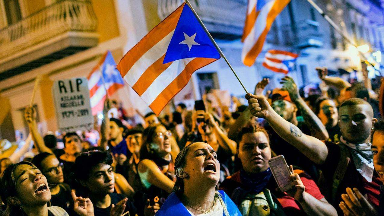 Puerto Ricans took to the streets demanding Gov. Ricardo Rosselló submit his resignation over alleged corruption and mismanagement of millions of dollars. Fox News' Bryan Llenas reports from the Caribbean island's capital of San Juan.