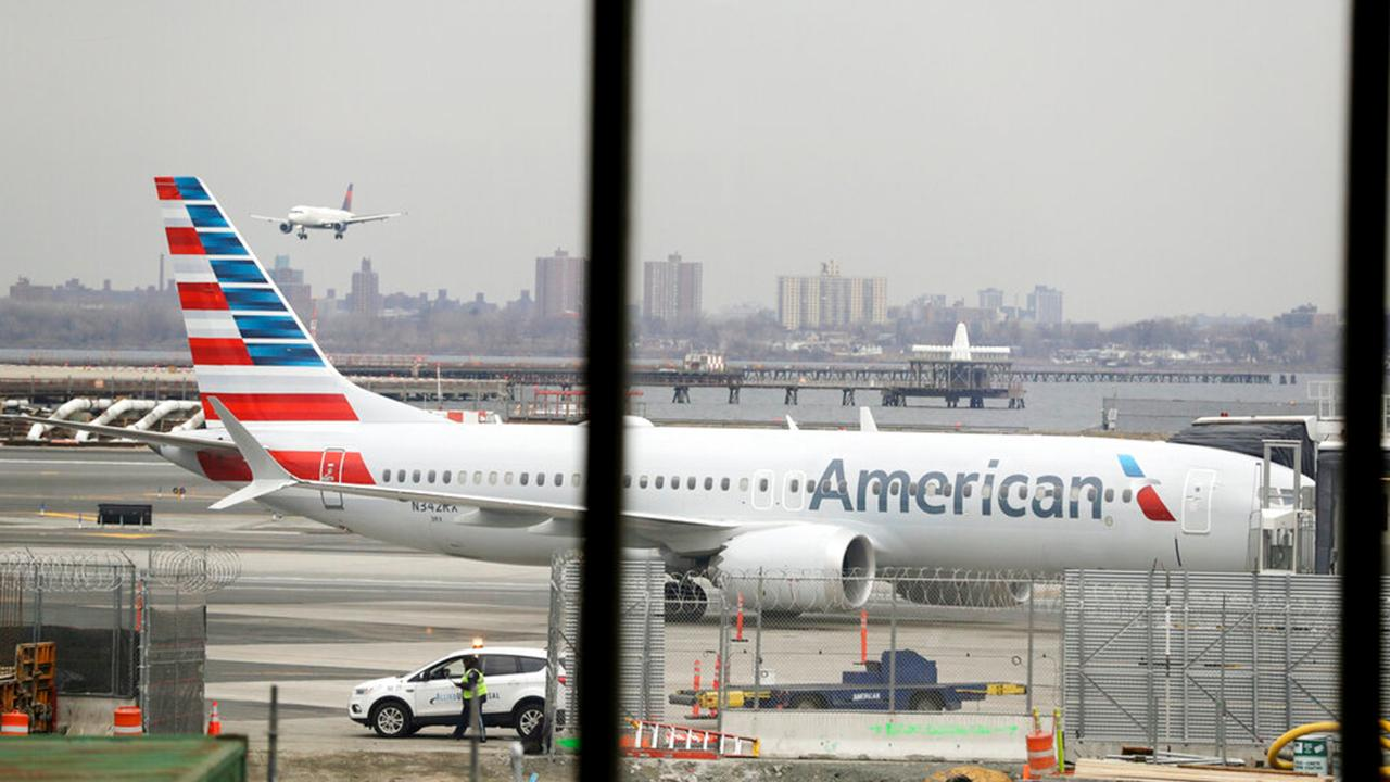 Fox Business Briefs: American Airlines is cancelling more flights scheduled to use Boeing's grounded 737 Max, taking the plane off its schedule until November 2.