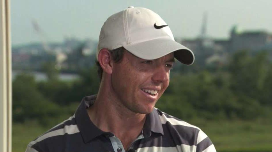 """Rory McIlroy, the four-time golf major champion, discusses the business of golf, his brand, and the impact Tiger Woods still has on the game on """"Maria Bartiromo's Wall Street."""""""