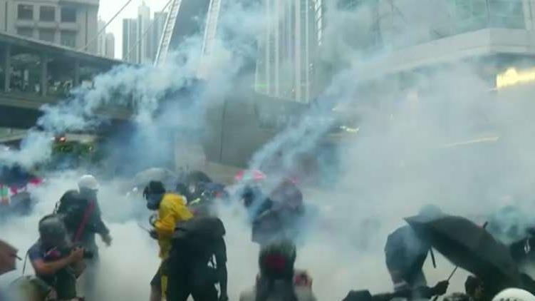 Fox News correspondent Kitty Logan explained the escalating violence during the Hong Kong protests after police fired live ammunition and tear gas at the protesters.