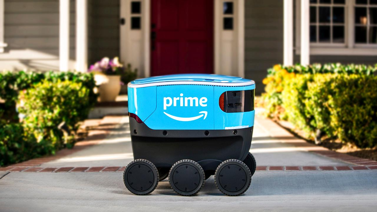Fox Business Briefs: Amazon's self-driving delivery robot 'Scout' will begin delivering packages in Irvine, California.