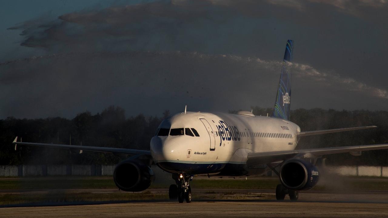 JetBlue CEO Robin Hayes on fuel prices, the airline's plans to fly to Europe beginning in 2021 and how the company will lower first-class and business-class fares to European destinations.