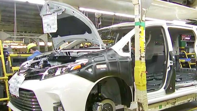 FBN's Grady Trimble talks to Toyota Indiana President Millie Marshall about the challenges for the automaker hiring for plants such as the one in Princeton, Indiana.