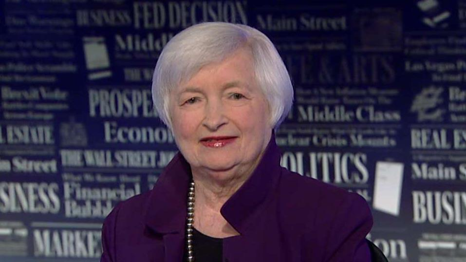 Former Federal Reserve Chairman Janet Yellen on the U.S. economy, the inverted yield curve and the U.S.-China trade war.