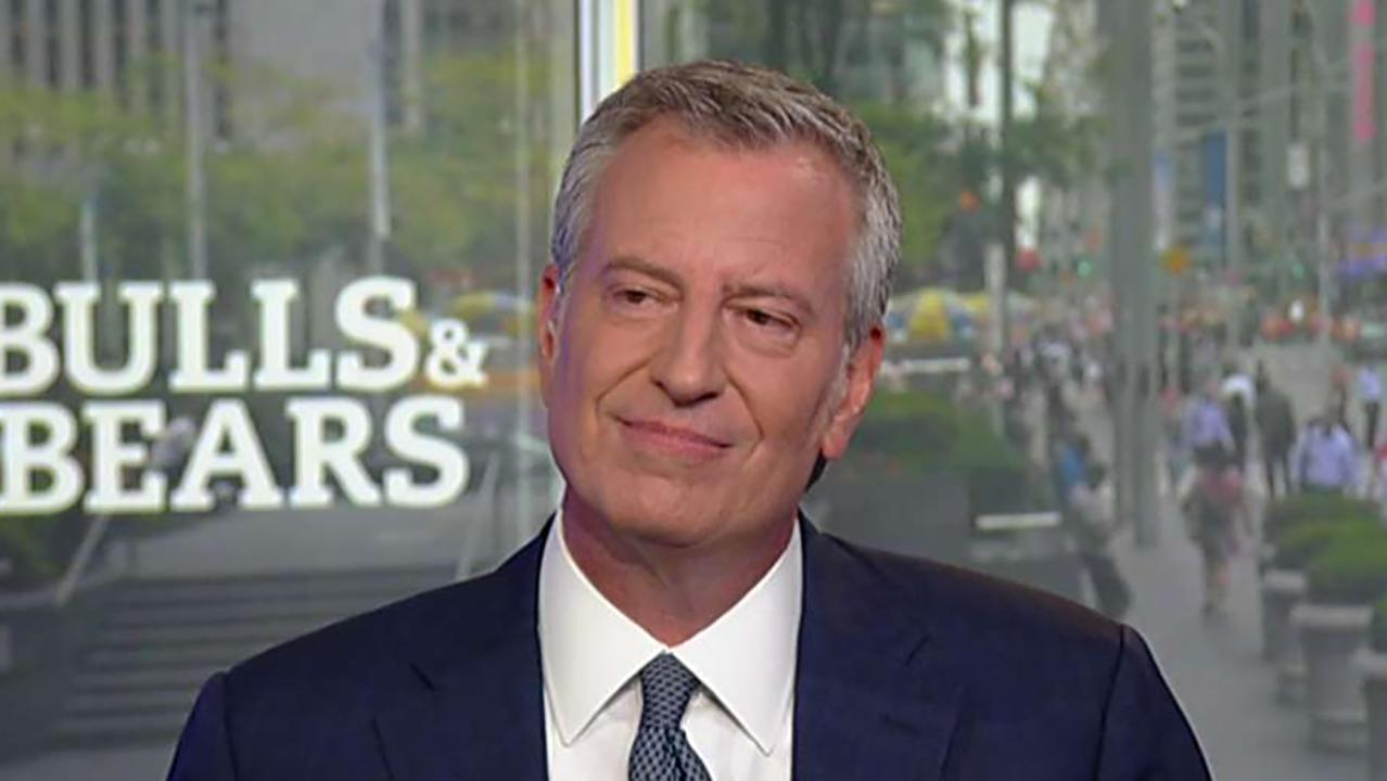 2020 presidential candidate Bill de Blasio (D) on health care, the homeless problem in New York City and his tax plan.