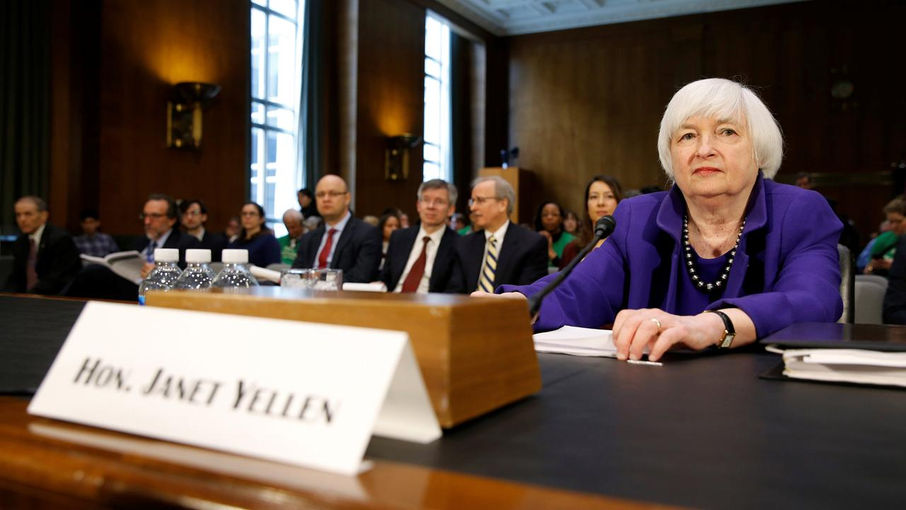 Former Federal Reserve Chair Janet Yellen on concerns the inverted yield curve is signaling a potential recession.