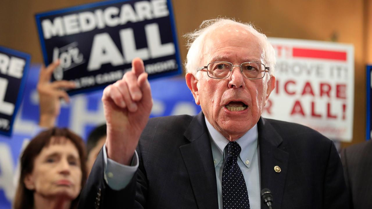 FOX Business' Kennedy on 2020 presidential candidate Kamala Harris's claim that she's uncomfortable with Sen. Bernie Sanders' (I-Vt.) health care plan.