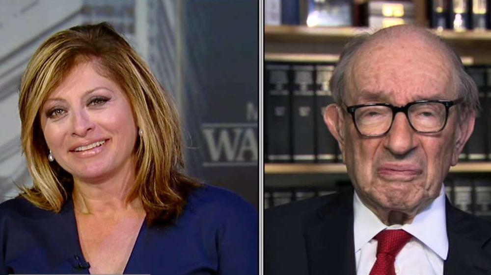 "Former Federal Reserve Chairman Alan Greenspan discusses the implications the U.S., China tariff war will have on the American economy on ""Maria Bartiromo's Wall Street."""