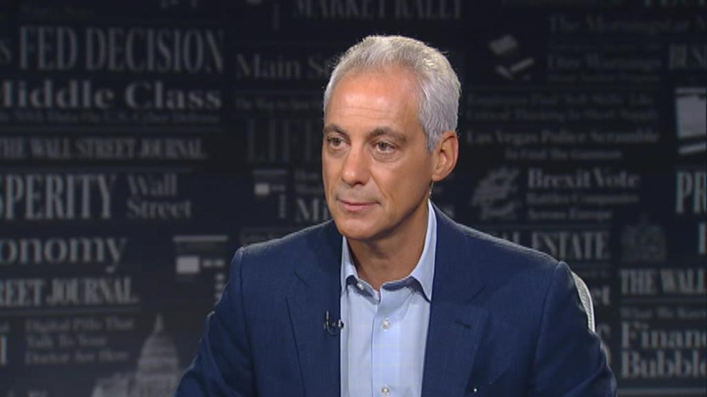 """Rahm Emanuel, the former White House chief of staff under the Obama administration, details the contrast between President Trump and Democratic front-runner Joe Biden on """"WSJ at Large."""""""
