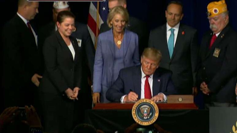 President Trump signed a memorandum to eliminate student loan debt for disabled veterans.