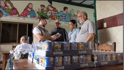 Goya president Bob Unanue discusses food donations to Venezuela and the Bahamas.