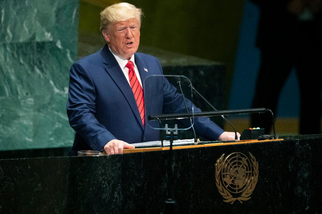 President Trump discusses the need to sanction Iran during his speech at the United Nations