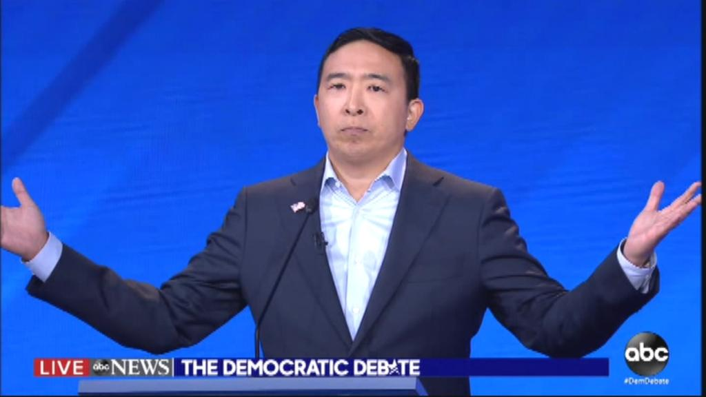 'It's time to trust ourselves more than our politicians,' Andrew Yang said during the third presidential debate.