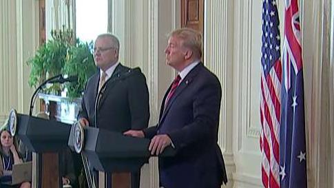 President Trump and Australian Prime Minister Scott Morrison discuss their partnership with China and acting in 'national interest.'