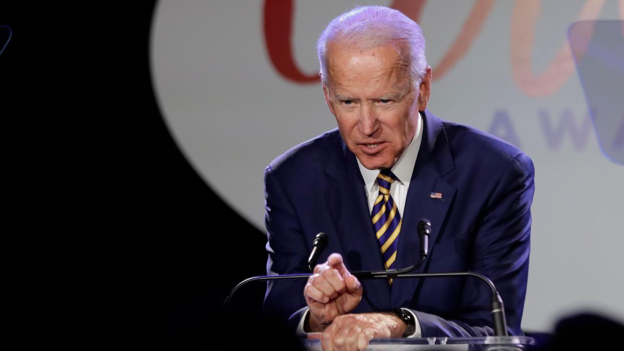 FBN's Stuart Varney on former Vice President Joe Biden's motivations to run for president against President Trump.