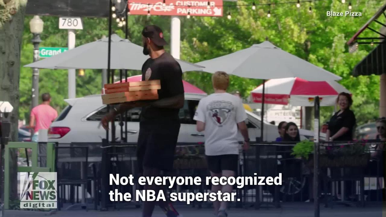 The power forward LeBron James, who was an early investor in Blaze Pizza,took the pizzas to the street as a delivery man.