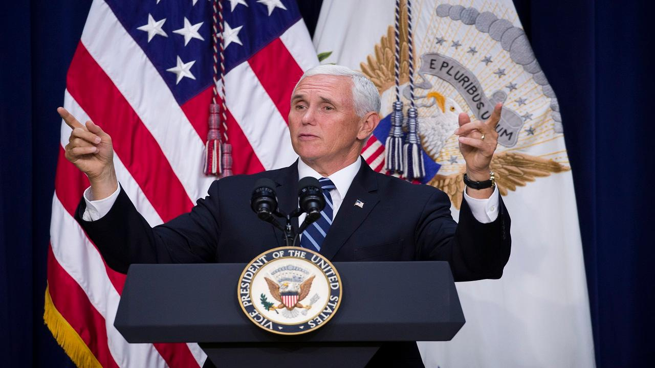 Vice President Mike Pence discusses Speaker of the House Nancy Pelosi and the United States–Mexico–Canada Agreement.