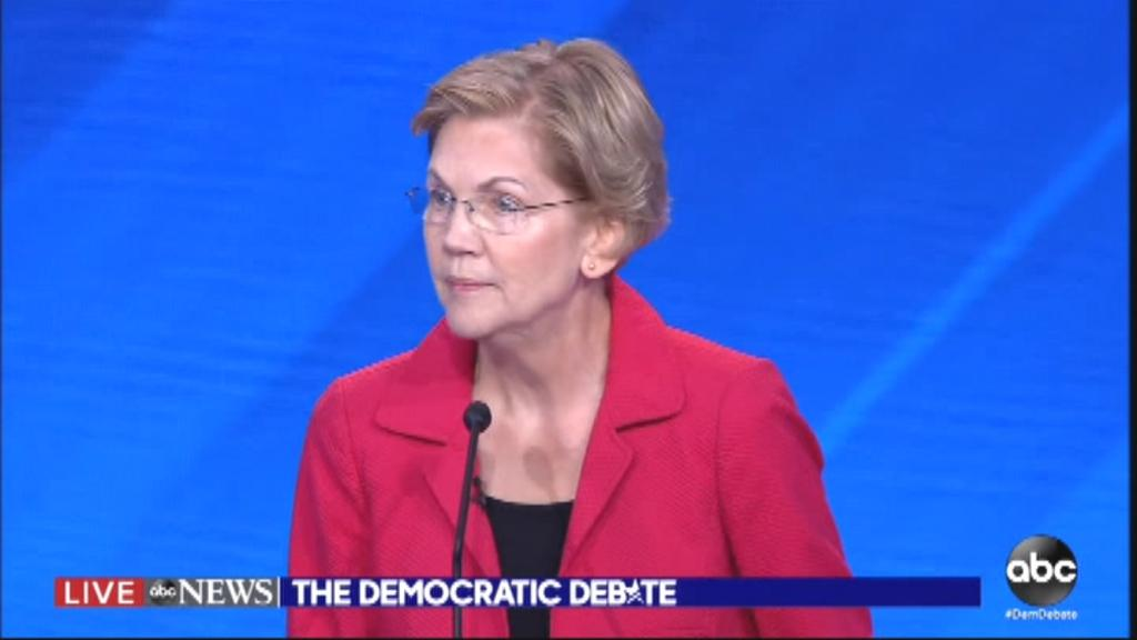 'How do we pay for it?' Warren asked. 'Those at the top -- the richest individuals and the biggest corporations -- are going to pay more. And middle-class families are going to pay less. That's how this is going to work.'