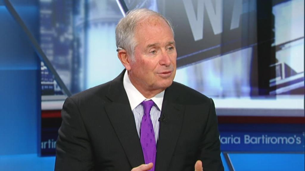 Blackstone CEO Stephen Schwarzman says while manufacturing is down, worker compensation is going up faster than inflation.