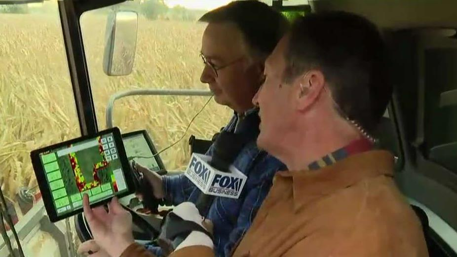FOX Business' Jeff Flock joins corn and soybean farmer Jeff Keiser to get a first-hand look at how AI is helping farmers.