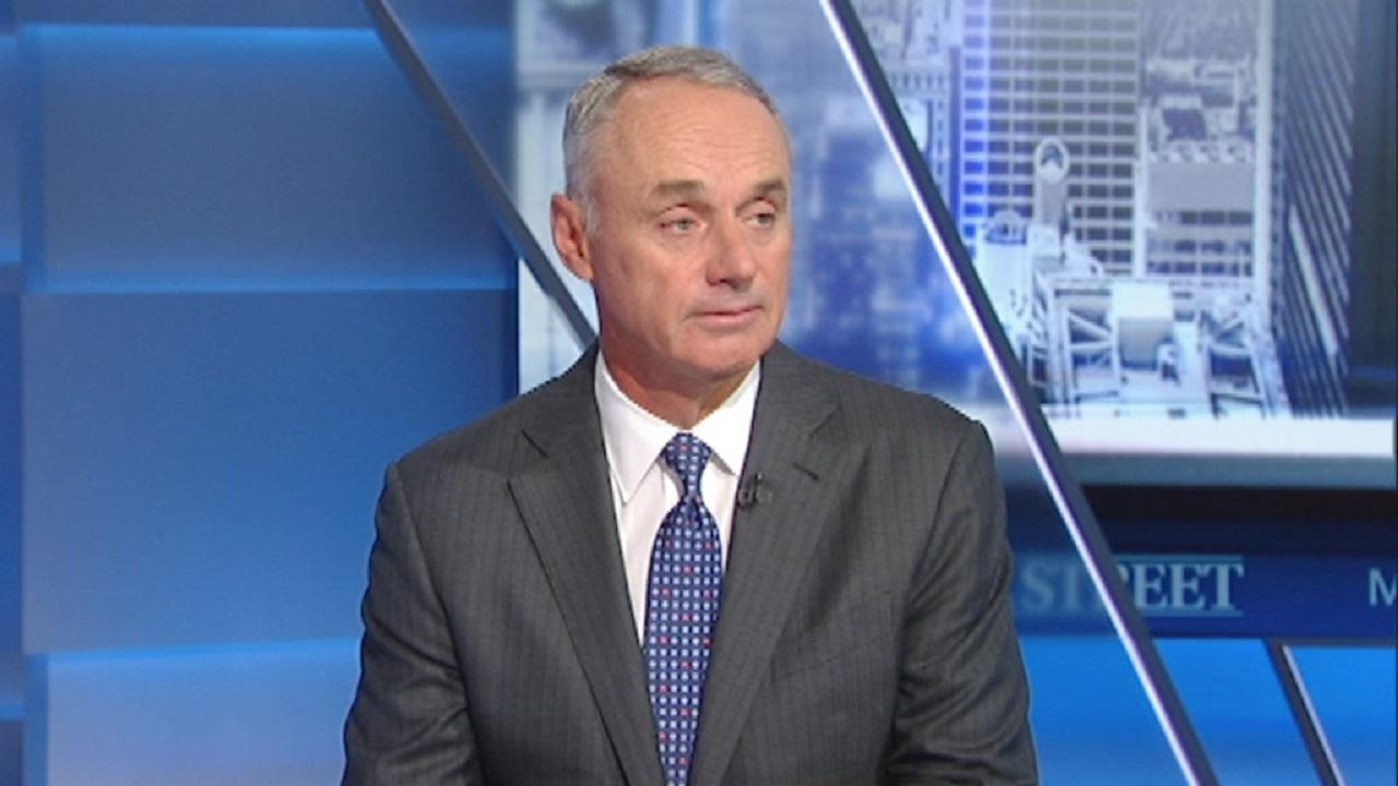 MLB Commissioner Rob Manfred discusses the MLB playoffs.