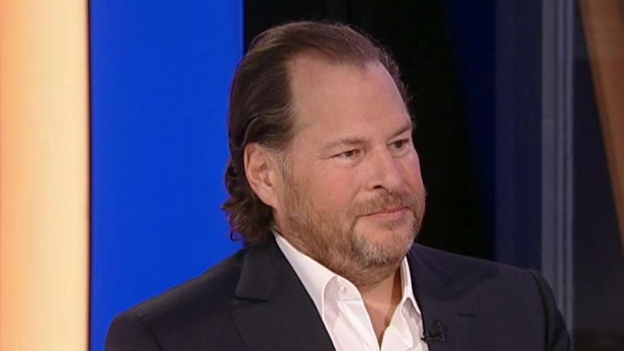 Salesforce founder and co-CEO Marc Benioff discusses California's homeless crisis.
