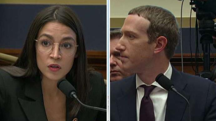 Rep. Alexandria Ocasio-Cortez (D-NY) questions Facebook CEO Mark Zuckerberg on Cambridge Analytica, fact-checking and white supremacy in a hearing on Capitol Hill.