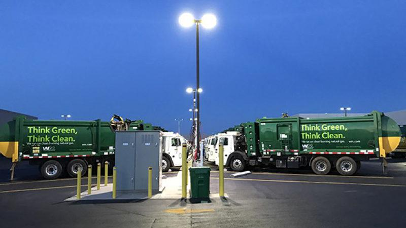 Waste Management CEO Jim Fish discusses his company's move to a natural gas-powered fleet and the company's adoption of new technology for the future.