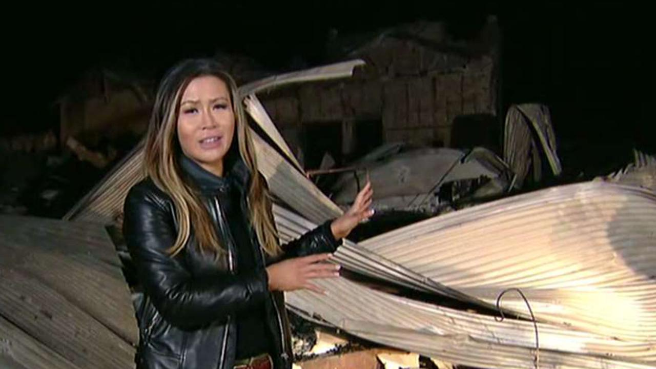 FOX Business' Susan Li reports from a California winery where the wildfire had a big impact.