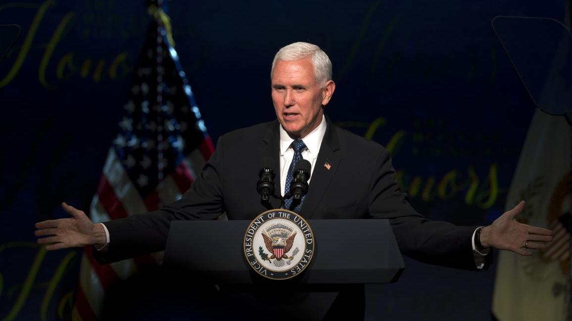 Vice President Mike Pence discusses Chinese coercion of American business, specifically regarding the NBA's failure to support free speech and Nike's stores in China removing the Houston Rockets gear.